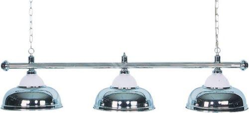 Kulečníková lampa Crown - 3 stříbrné širmy