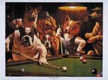 Billiard Posters Dogs - The Hustler