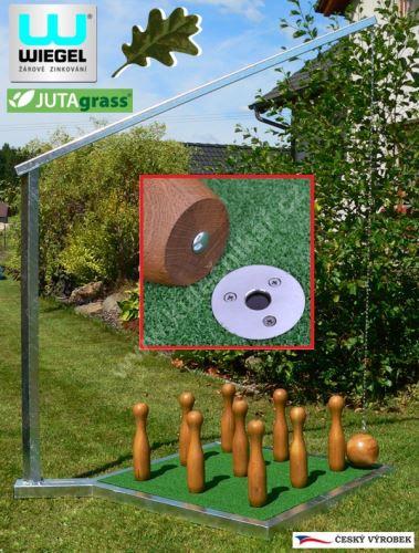 Ruské zahradní kuželky KOMPLET, zinek, kuželky DUB Fix Ball
