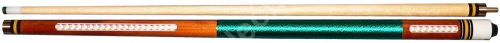 Universal Cues Pool Cue - Green Line Cubes