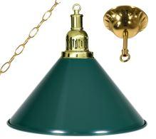 Kulečníková lampa Gold Elegant 1, zelené stínidlo