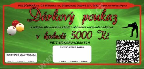 Gift Voucher CZK 5000, -