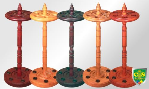 """Billiard stand """"round"""" to 6 cues - solid"""