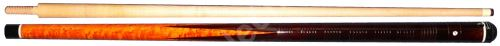 Carom cue - Brown (pointed flames)