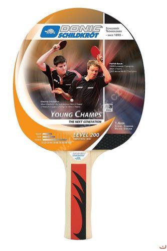 Pálka na stolní tenis DONIC Young Champs 200, konkávní