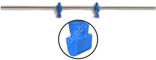 Rod for table football - blue 2 players - football bars