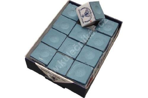 Chalk for billiard SILVER CUP - blue, 1pc
