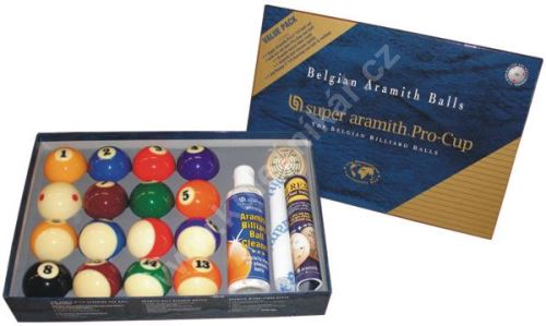 Aramith pool balls SUPER Pro Value Pack, 57.2 mm