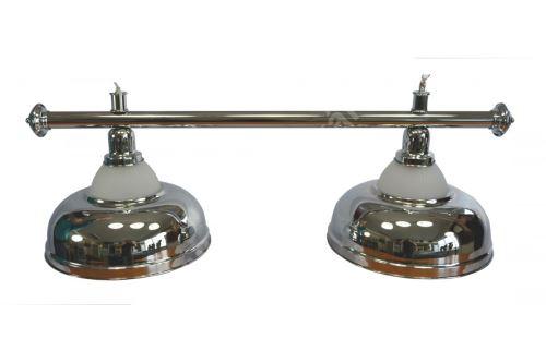 Kulečníková lampa Crown - 2 stříbrné širmy