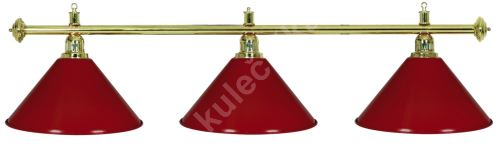 Gold Billiard Lamp Green Light 3, gold ramp, green Sirma