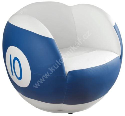 Otočné kulečníkové křeslo - poolová koule číslo 10