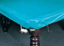 Covering the protective cover on the pool 9 ft (PVC) on the table eight feet