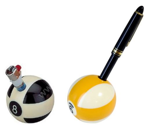 Stojánek  na zapalovač nebo tužku koule pool