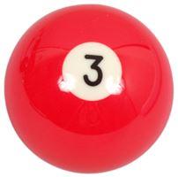 Náhradní koule pool standart jednotlivá č.3 - průměr 57,2mm