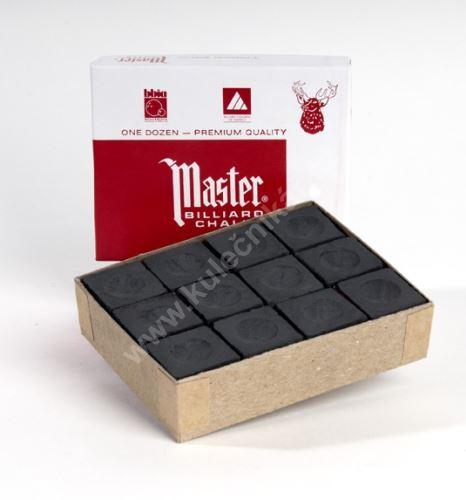 Billiard cue chalk Chalk MASTER red, 12pcs