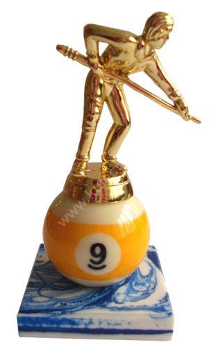 Billiard trophy - kulečníkář the 9-ball