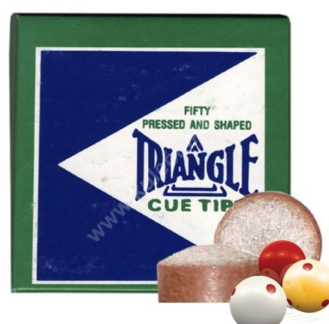 TRIANGLE leather cue tips