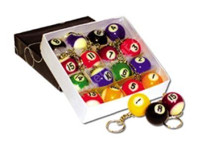 Přívěšeky na klíče, Poolové koule č. 1 - 15