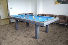 Kulečník SLIM pool biliard 6ft, Lamino/Kov - jídelní stůl