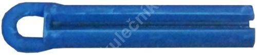 Stahovák na lepení kůží na tága - celogumový modrý