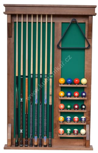 Wall-mounted rack MODERN UNIVERSAL 6 cues + 16 + 4 balls