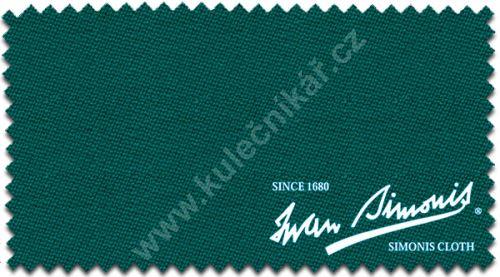 Billiard pocket billiard cloth Simonis 860 Y / G 198 cm