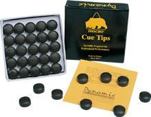 Bonded leather cue tips BEAR, diameter 12 mm