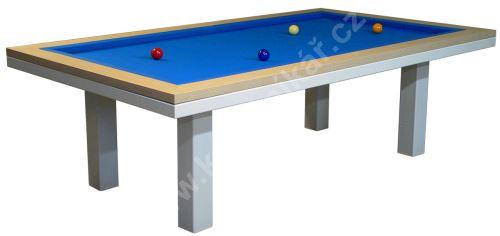 Kulečník karambolový stůl SLIM, Lamino/Kov - jídelní stůl
