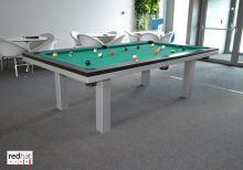 Kulečník SLIM pool biliard 7ft, Lamino/Kov - jídelní stůl