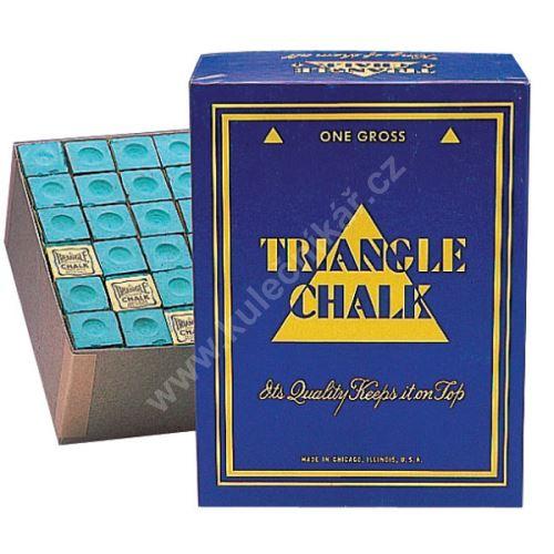 Chalk for billiard TRIANGLE - blue, 144pcs