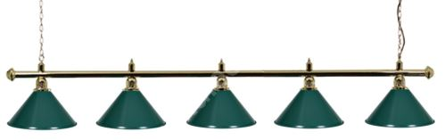 Billiard Lamp Green Light Gold 5 Gold ramp, green Sirma