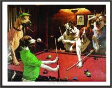 Kulečníkový obraz PSI - The Scratching Beagle