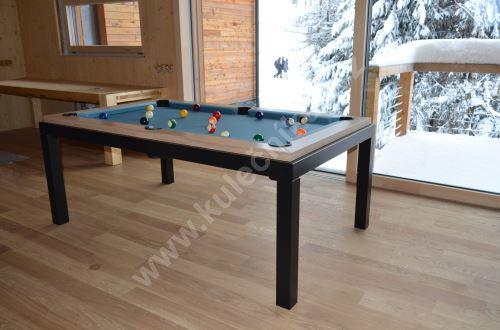 Kulečník Pool billiard FUSHION Steel - jídelní stůl