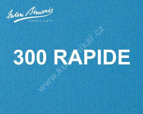 Karambolové cloth Simonis 300 Rapido Delsa Blu - š.198 cm
