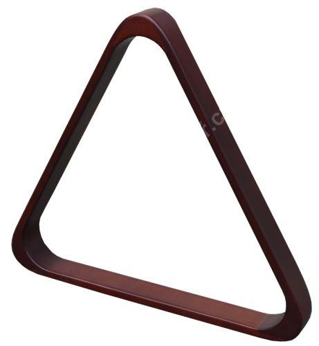 Trojúhelník na stavění poolových koulí 57,2 mm, mahagon