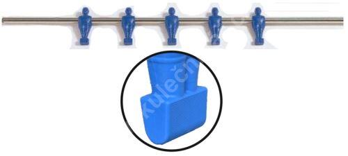 Rod for table football - 5 blue players - football bars