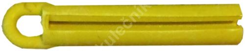 Stahovák na lepení kůží na tága - celogumový žlutý