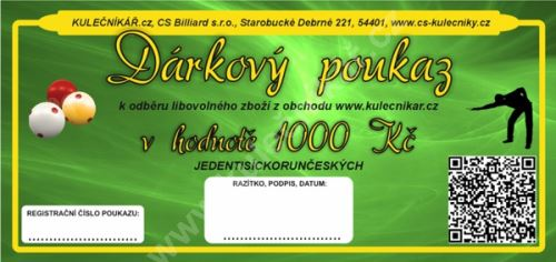 Gift Voucher CZK 1000 -