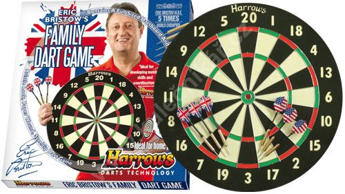 Sisálový šipkový terč Harrows Family Dart Game