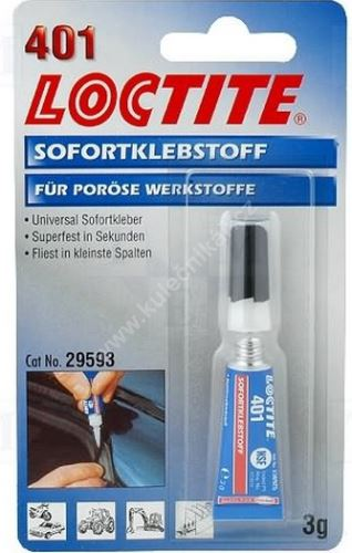 The adhesive on the skin LOCTITE 401