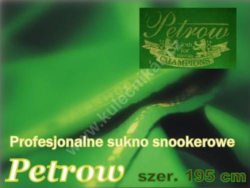 Snooker cloth Petrowa, english green 198 cm