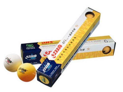DHS Pingpongové míčky 6 ks, oranžové