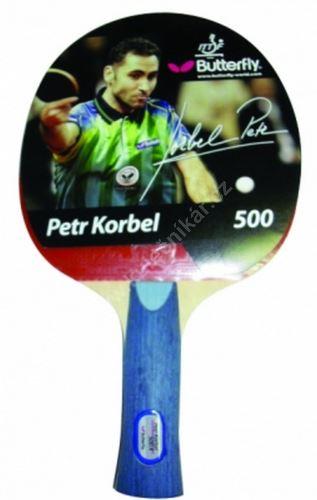 Pálka na stolní tenis  BUTTERFLY Korbel 500, konkávní
