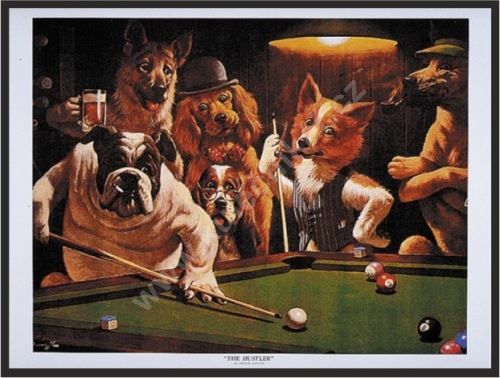 Dogs Billiard Poster - The Hustler