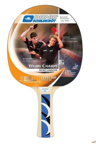 Pálka na stolní tenis DONIC Young Champs 300, konkávní