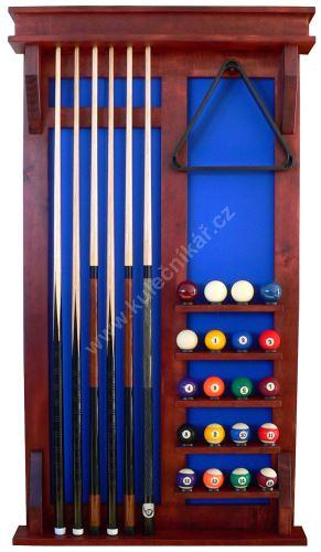 Wall-mounted rack MODERN UNIVERSAL 6 cues + 16 + 4 balls