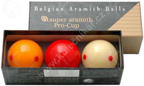 Karambolové koule SUPER Aramith Pro Cup 3, 61,5 mm