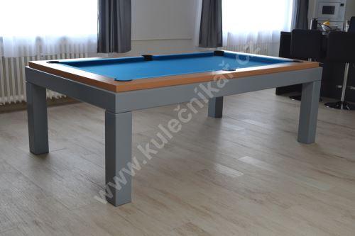 Kulečník pool biliard NEW AGE, Lamino/Komaxit - jídelní stůl