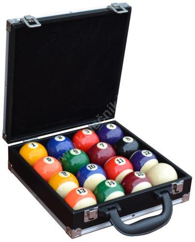 Kufřík na 16 poolových koulí průměr 57,2 mm, pool