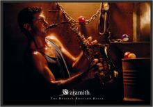 Zasklený obraz Aramith, Hráč na saxofon a pool